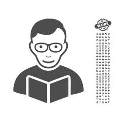 Reader Icon With Bonus vector
