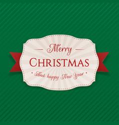 Realistic festive merry christmas badge vector