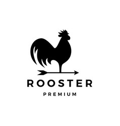 rooster arrow weathervane logo icon vector image