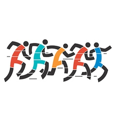 Running race vector image
