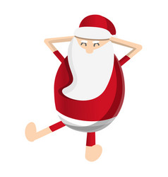 santa claus relax icon cartoon style vector image