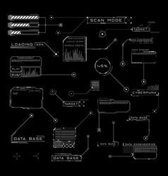 set hud callout titles futuristic sci-fi vector image