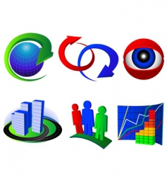 set of icons vector image vector image