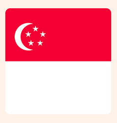 singapore square flag button social media vector image