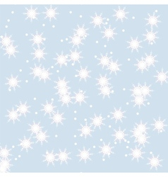 Snowflakes winter background vector image