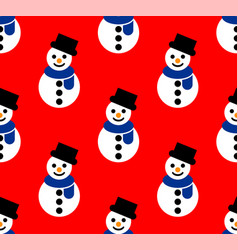 snowman patterns vector image