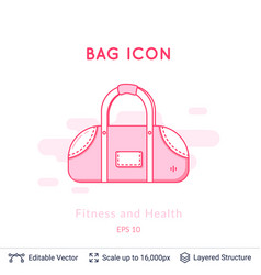 sports bag icon isolated on white vector image