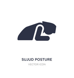 Sujud posture icon on white background simple vector