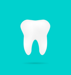 tooth on turquoise background with shadow vector image
