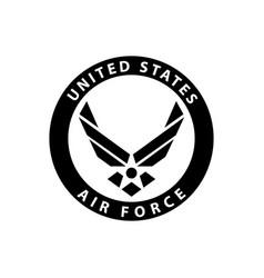 Usa us air force logo sign symbol vector