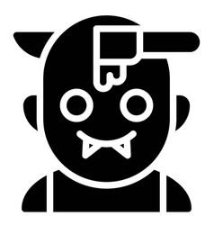 Zombie with knife through head avatar vector