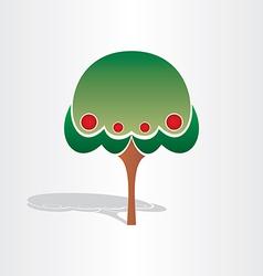 family tree symbol design vector image vector image