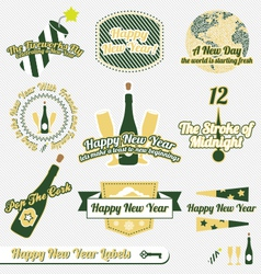 Happy New Year Labels vector image vector image