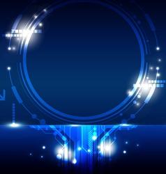 hi tech circle frame design vector image vector image