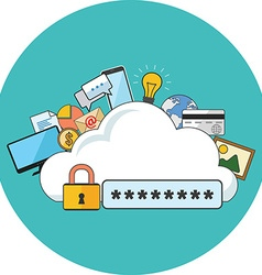 Internet security concept Flat design Icon in vector image