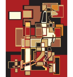 Meerkat mosaic vector image vector image