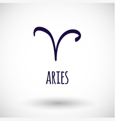 aries zodiac sign icon vector image vector image