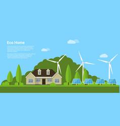 eco home concept vector image