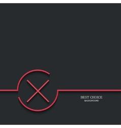 Modern red check mark vector