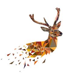 multicolor polygonal deer vector image