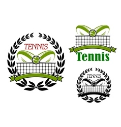 Tennis sport game icons and emblems vector image vector image