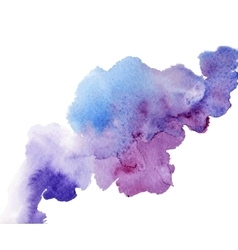 watercolor splash a nice spot on the wet vector image vector image