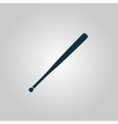 baseball bat icon vector image