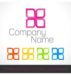Company logo in five color combinations vector image vector image