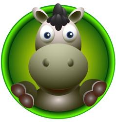 cute donkey vector image