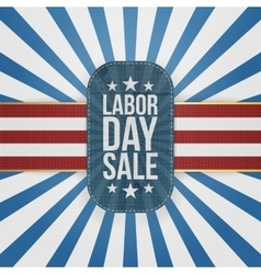 Labor day sale patriotic badge with usa colors vector