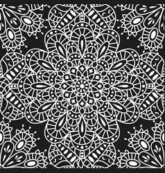 seamless ethnic pattern with mandala vector image