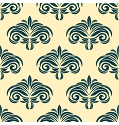 Vintage floral seamless pattern background vector