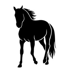 horse silhouette vector image vector image