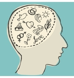 Love thinking vector image