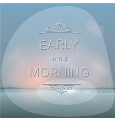 Misty morning background vector image