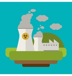 power plant nuclear electricity vector image