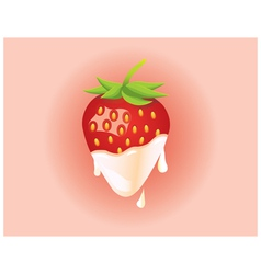 Strawberry and cream vector image