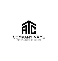 atc house logo vector image