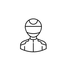 avatar racer outline icon signs and symbols can vector image