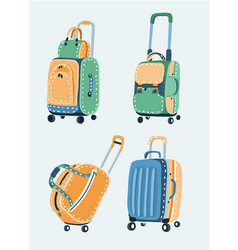 bags set different kinds of vector image