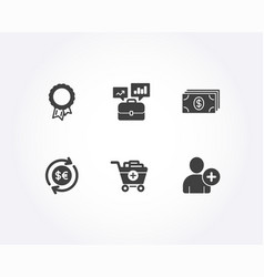 Banking add products and money currency icons vector