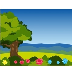 Beautiful year landscape vector