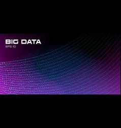 Big data visualization data stream vivid vector