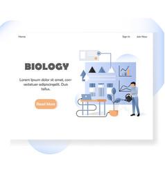 biology website landing page design vector image
