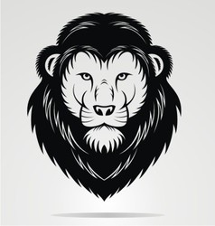 Black Lions Head Mascot vector image