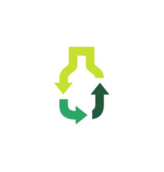 bottle recycle logo icon recycle logo icon vector image