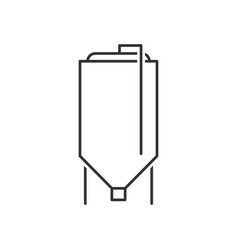 Brewery tank outline icon vector