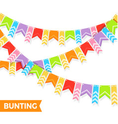 bunting colorful flags vector image
