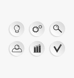 Business icons for infographic vector