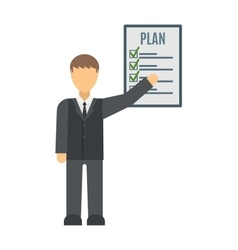 Business plan strategy presentation vector image